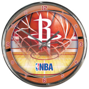 Chrome Clock - Houston Rockets