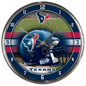 Chrome Clock - Houston Texans