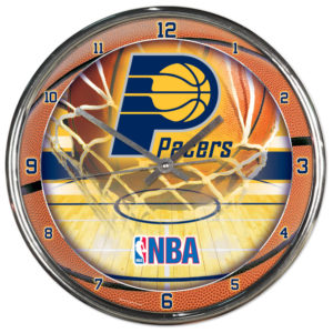 Chrome Clock - Indiana Pacers