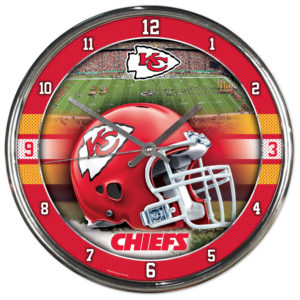 Chrome Clock - Kansas City Chiefs