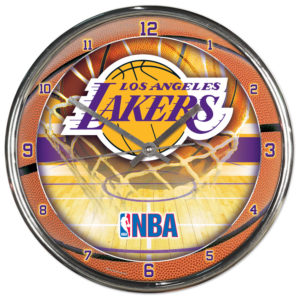 Chrome Clock - Los Angeles Lakers