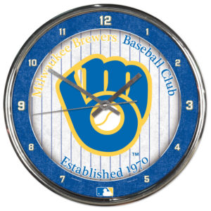Chrome Clock - Milwaukee Brewers
