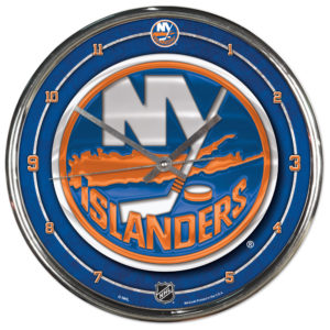 Chrome Clock - New York Islanders