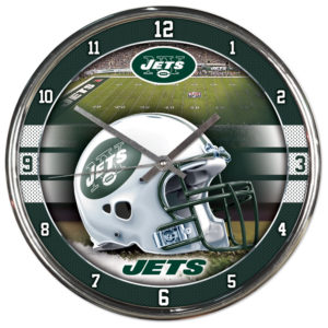 Chrome Clock - New York Jets