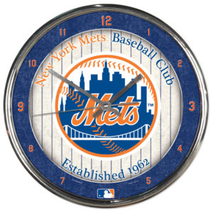 Chrome Clock - New York Mets