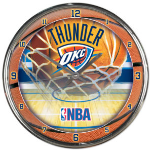 Chrome Clock - Oklahoma City Thunder