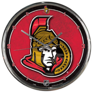 Chrome Clock - Ottawa Senators