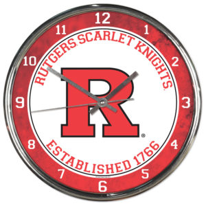 Chrome Clock - Rutgers