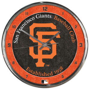 Chrome Clock - San Francisco Giants