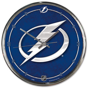 Chrome Clock - Tampa Bay Lightning
