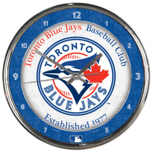 Chrome Clock - Toronto Blue Jays
