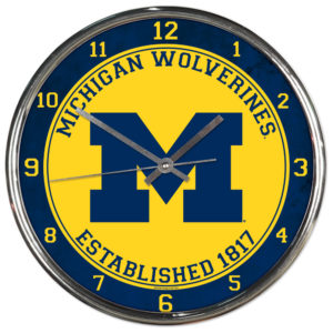Chrome Clock - University of Michigan