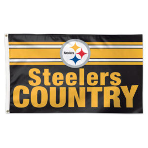 Flag - Deluxe 3'x5' - Pittsburgh Steelers Country