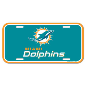 License Plate - Miami Dolphins