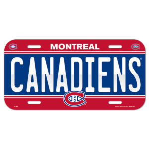 License Plate - Montreal Canadiens