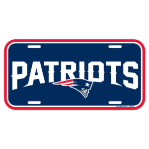 License Plate - New England Patriots