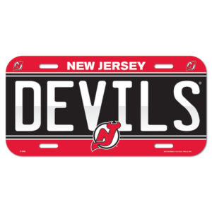 License Plate - New Jersey Devils