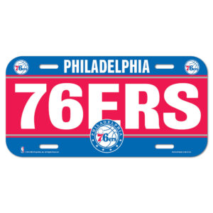 License Plate - Philadelphia 76ers