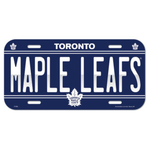 License Plate - Toronto Maple Leafs (2)
