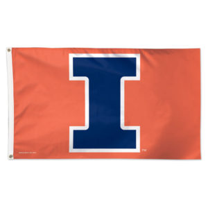 Flag - Deluxe 3'x5' - University of Illinois