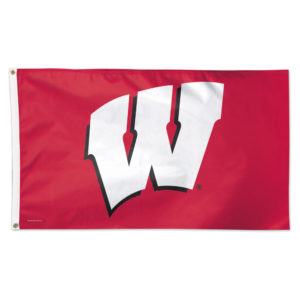 Flag - Deluxe 3'x5' - University of Wisconsin