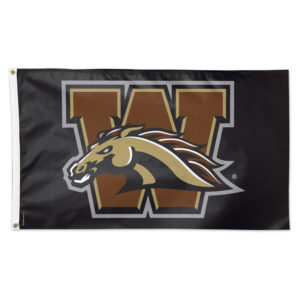 Flag - Deluxe 3'x5' - Western Michigan