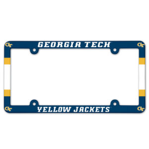 License Plate Frame full color - Georgia Tech