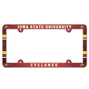 License Plate Frame full color - Iowa State University