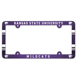 License Plate Frame full color - Kansas State University