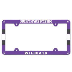 License Plate Frame full color - Northwestern wildcats