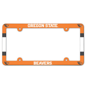 License Plate Frame full color - Oregon State