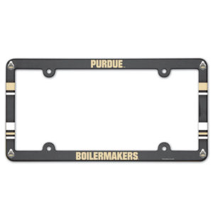 License Plate Frame full color - Purdue