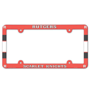 License Plate Frame full color - Rutgers, scarlet knights