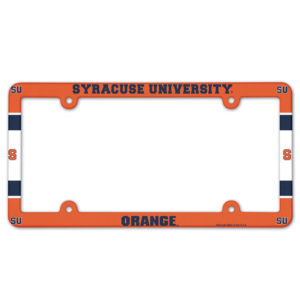License Plate Frame full color - Syracuse University, Orange