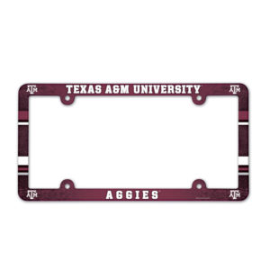 License Plate Frame full color - Texas A&M University