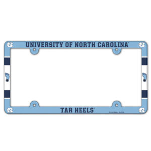 License Plate Frame full color - U of North Carolina