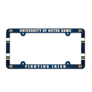 License Plate Frame full color - U of Notre Dame