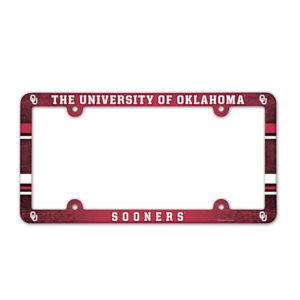 License Plate Frame full color - U of Oklahoma