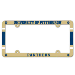 License Plate Frame full color - U of Pittsburgh, panthers