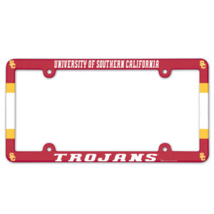 License Plate Frame full color - U of Southern California