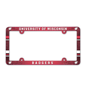 License Plate Frame full color - U of Wisconsin