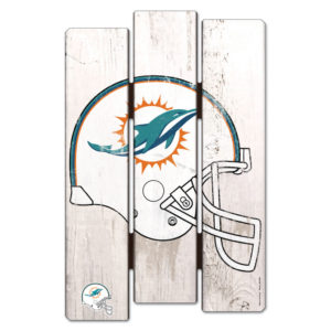 Wood Fence Sign - Miami Dolphins