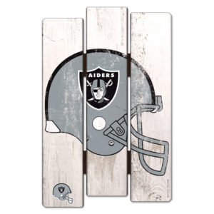 Wood Fence Sign - Oakland Raiders