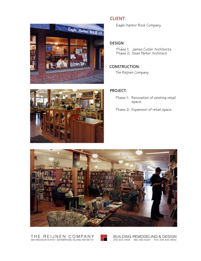 Portfolio Page Eagle Harbor Books