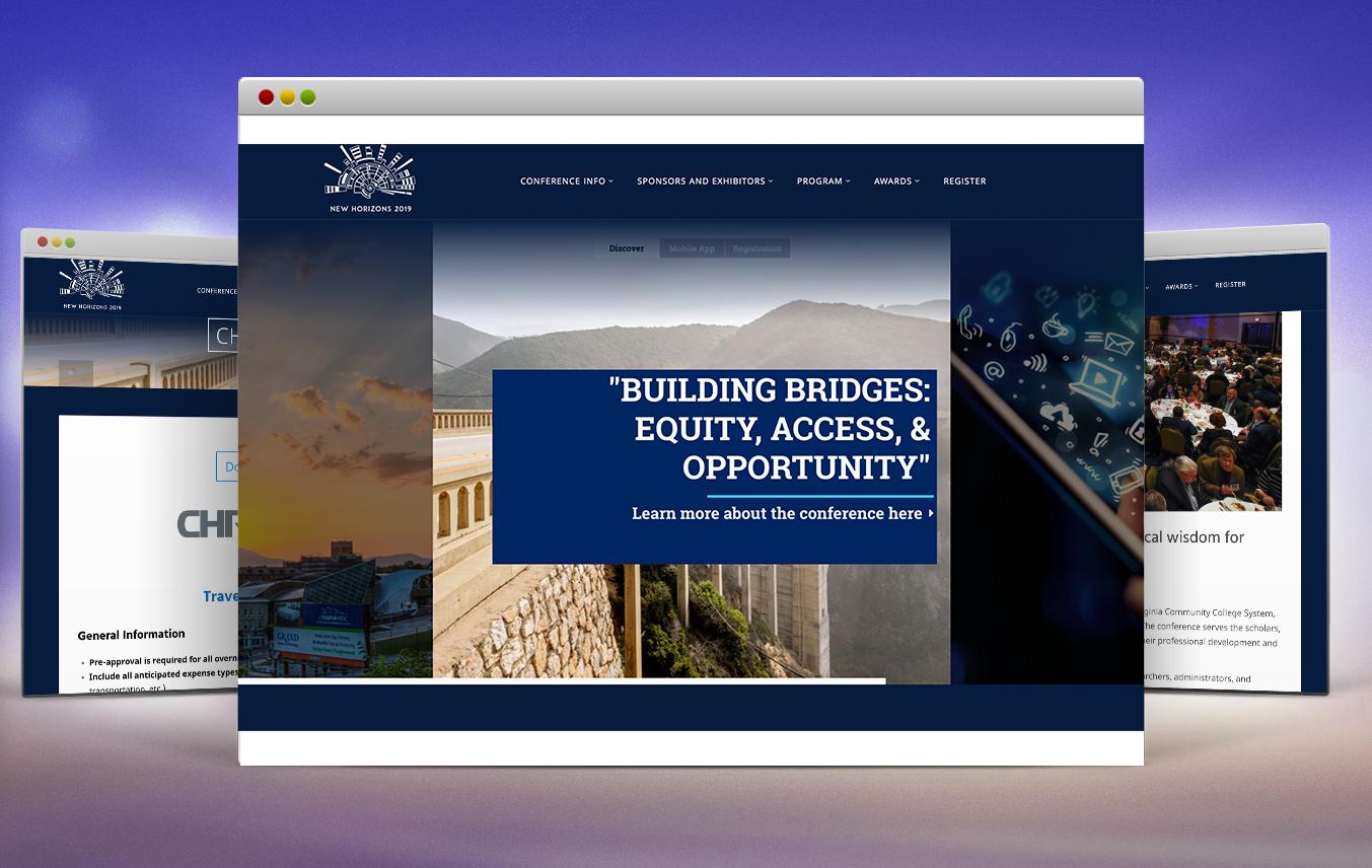 New Horizons 2019 web design