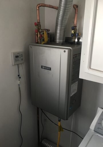 LA Plumbing tankless water heater installed