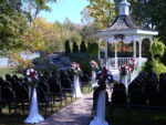 Our garden area has a beautiful gazebo and waterfall, perfect for an intimate ceremony!