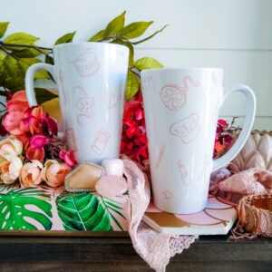 Limited Edition Artifice Latte Mugs in Cranberry (2)