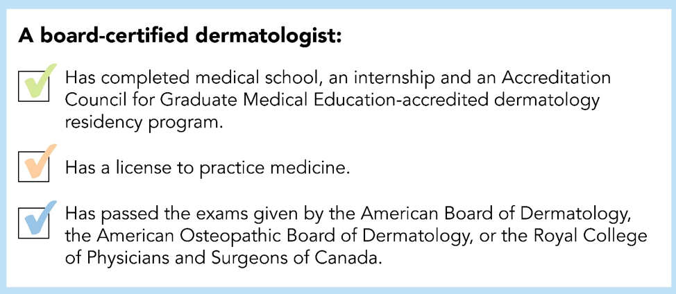 What is a Board Certified Dermatologist