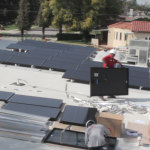 Ballast mount solar systems are ideal for flat roofs.